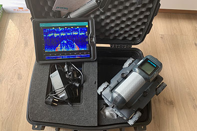 Diagnostic structure radar Proceq GPR Live